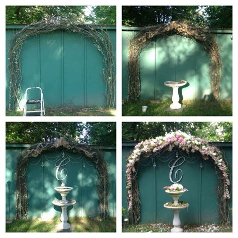 Wedding Arch Made Of Sticks by Best 25 Country Wedding Arches Ideas On