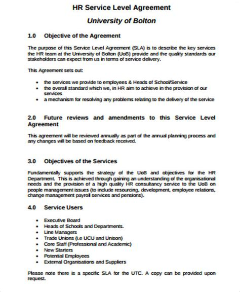 business service level agreement 8 sle business service level agreements sle templates