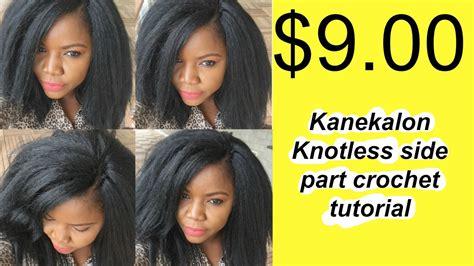 how to crochet wig with kanekalon hair tutorial youtube 9 00 kanekalon knotless invisible side part crochet