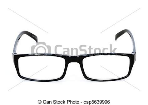 stock image of reading glasses front view of reading