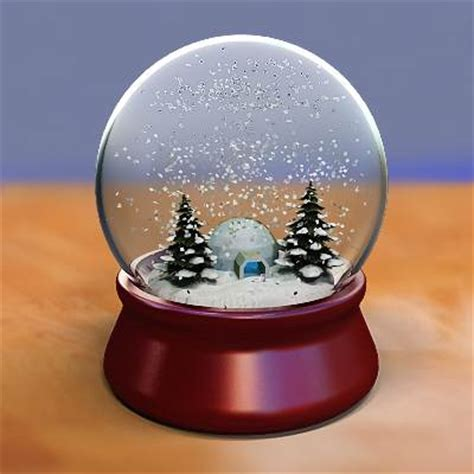 3d model snow house globe 29 95 buy download
