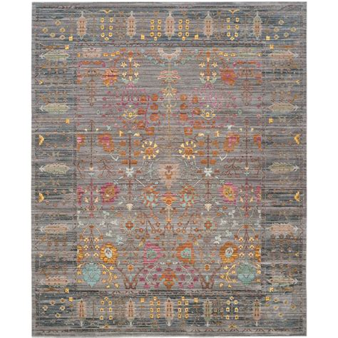 9 by 12 rug safavieh valencia gray multi 9 ft x 12 ft area rug val108c 9 the home depot