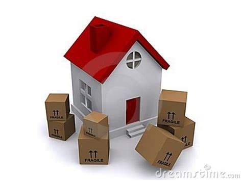 buy boxes for moving house moving boxes in front of house royalty free stock image image 17821066