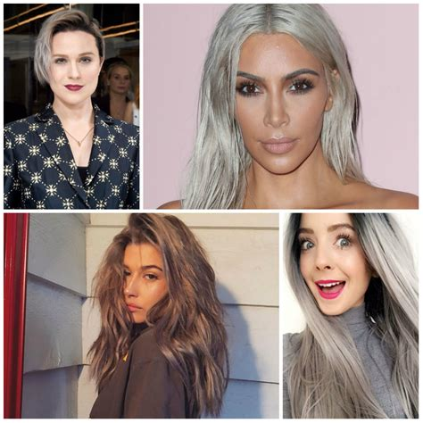 color grey hair grey hair color is the trend of 2018 best hair
