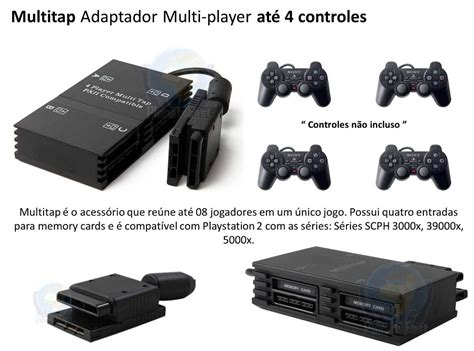 Sony Multitap Playstation 2 adaptador multitap 4 player ps2 playstation 2 r 15 00 em mercado livre