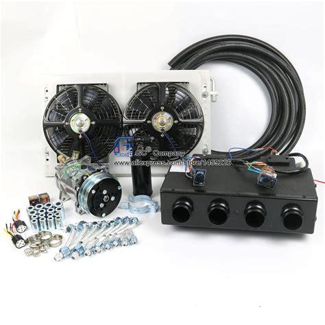 aliexpress buy 12v 24v a c air conditioner evaporator radiator compressor kit for