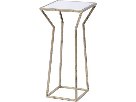 vintage gold side table antique gold side table gold metal and mirror top table