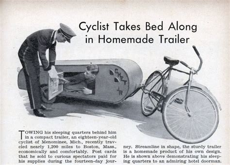 Bicycle Sleeper Trailer by Second Gear The Cycle Caravan