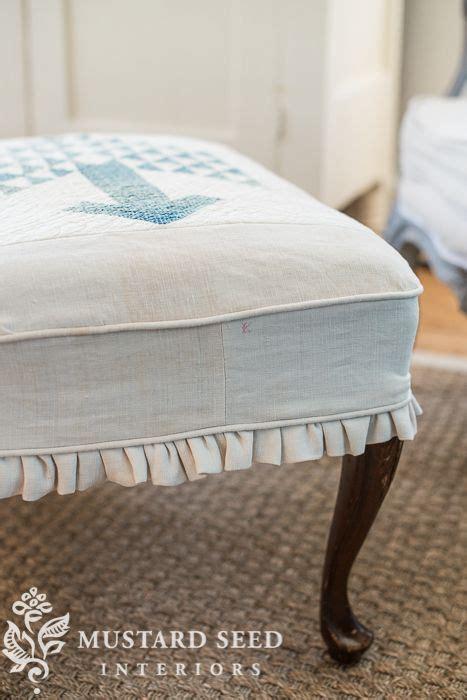 ottoman slipcover tutorial 1000 ideas about ottoman slipcover on pinterest