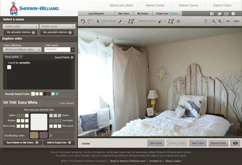 color visualizer by sherwin williams via thrifty and chic