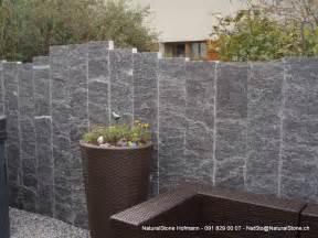 granitstellen als sichtschutzwand von naturalstone hofmann