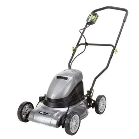 earthwise 17 in rechargeable cordless electric lawn mower