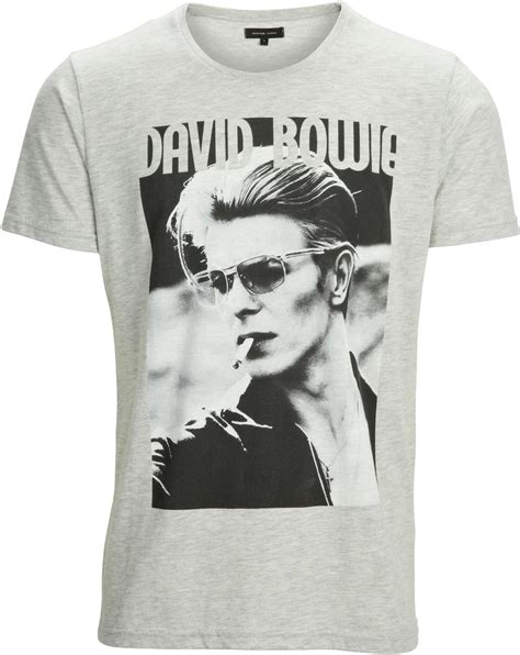 Bowie Shirt In Grey selected david bowie t shirt grey