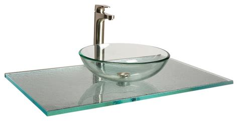 Glass Vanity Tops Fizzee Texture Aqua Clear Glass Vanity Top 1 Quot X22 Quot X25 Quot Contemporary Vanity Tops And Side
