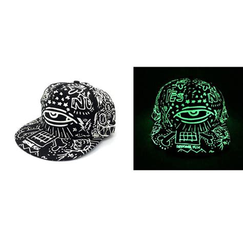 Topi Keren Snapback Besball Glow In The Darck fashion in the luminous glow hat snapback baseball hip hop cap no led
