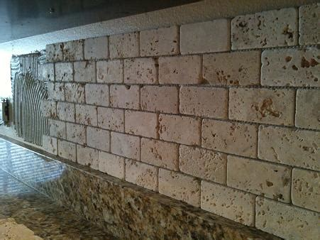 the 2x4 tumbled travertine backsplash photos