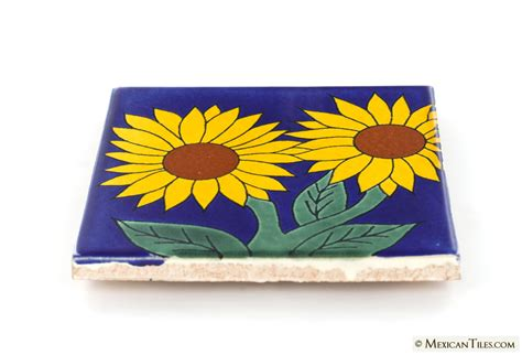 mexican tile sunflower 5 talavera mexican tile