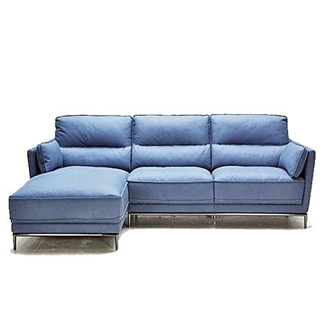 blue modern sectional sofa juno leather sectional horizon home furniture