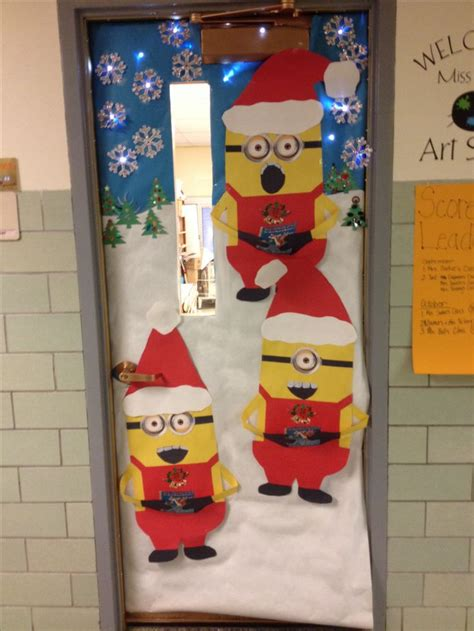 christmas door decorating room door ideas pinterest