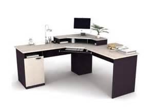 Corner Computer Desk Workstation With Hutch Brown Bestar Hton Corner Computer Desk