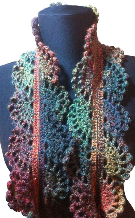 filigree lace sock yarn scarf crochet pattern pdf