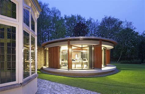 runder pavillon hilberink bosch restores villa with circular pavilion