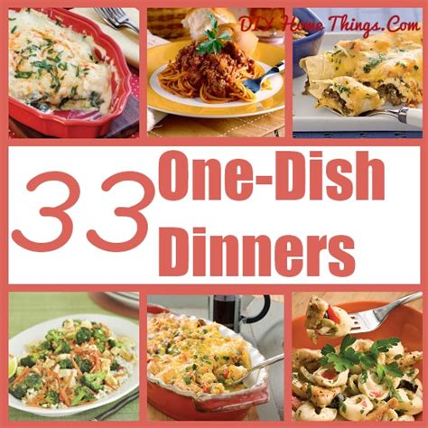 33 one dish dinners diy home things