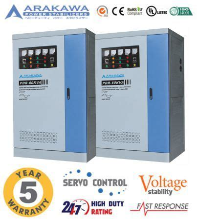 Stabilizer Arakawa Pdr 3 Phase Pdr 400kva jual stabilizer 60 kva automatic pdr automatic