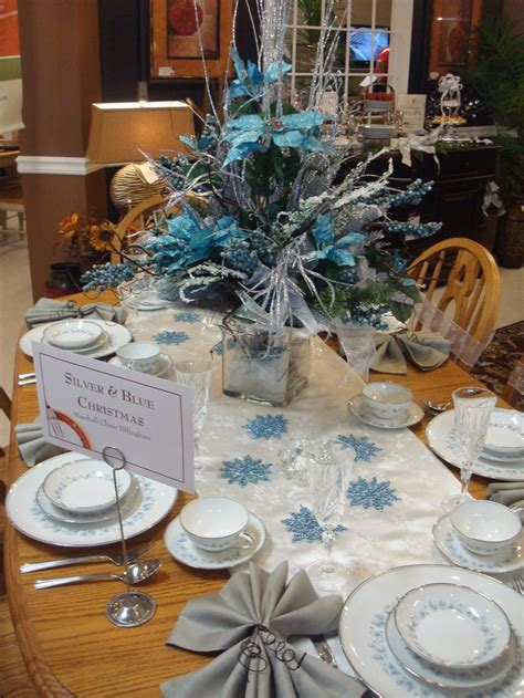 blue and silver table decorations - Table Decorations Blue And Silver