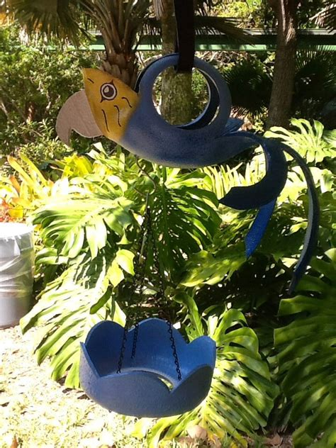 Recycled Tire Parrot Planter by 1000 Images About Recycled Tire Planters Bird Feeders