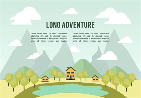 flat landscape vector background   vector art stock graphics images