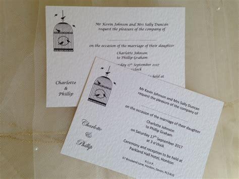 postcard wedding invites uk vintage birdcage postcard wedding invitations