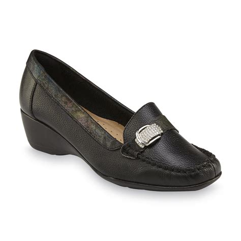 loafers for shopping reindeer s romina black leather wedge loafer shop