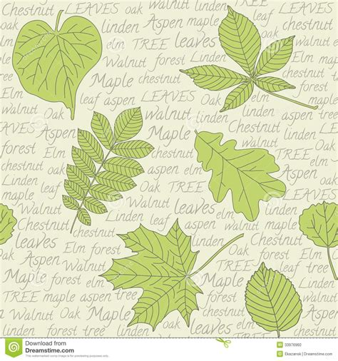 seamless pattern text seamless pattern with leaves on text background vector