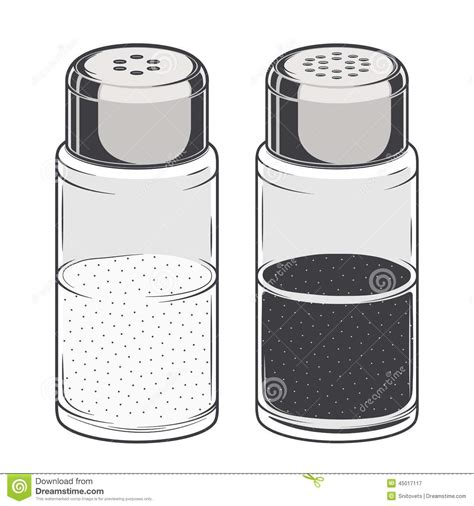 shaker vector salt and pepper shaker clipart free collection