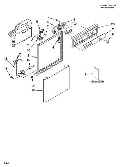 whirlpool partner iii parts diagram whirlpool dishwasher parts model du850swps3 sears