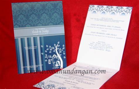 Verlak Merah Biru Ukuran Single undangan biru sederhana 1 warna sc 35