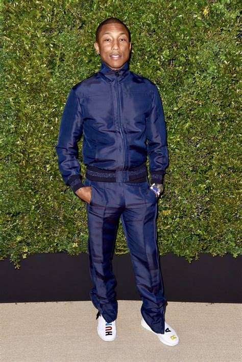Guccix Pant spotted chanel track suit and pharrell x adidas nmd human