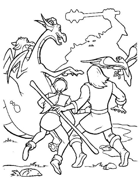excalibur coloring pages