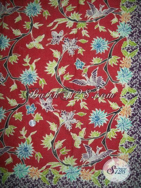 sorban murah motif merah sta13 kain batik murah warna merah motif bunga bunga bahan