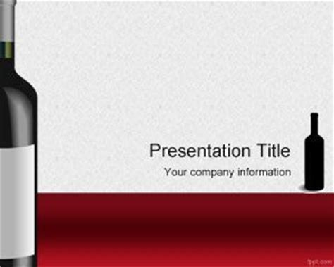 powerpoint templates free wine wines powerpoint template