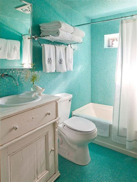 bathroom bathroom design with small vainty and curtains chic turquoise mosaic tiles ocean inspired bathroom with