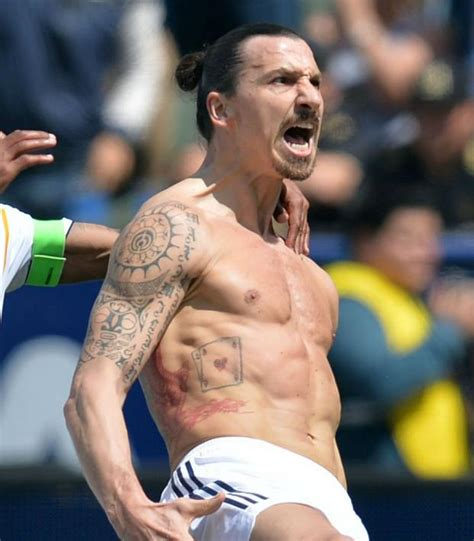 ibrahimovic tattoo celebration zlatan wins la derby declared mayor of los angeles