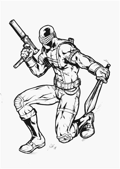 snake eyes coloring pages gi joe snake eyes coloring pages