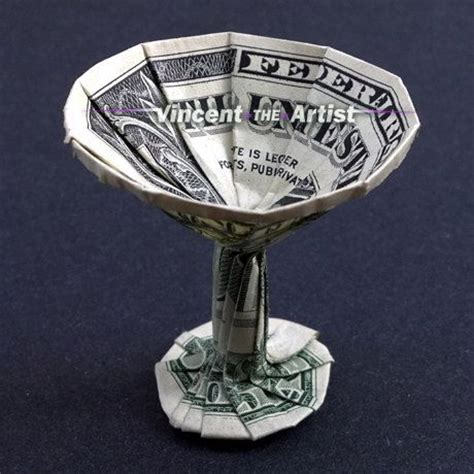 Origami Martini Glass - dollar origami martini glass cup designed by steven hecht