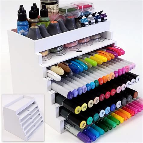 Craft Marker Organizer Pens Inks Daubers Card