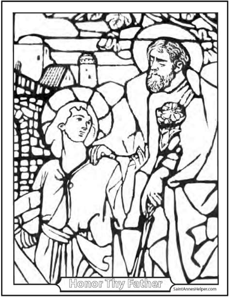 coloring pages st joseph joseph and jesus coloring page perfect father and son