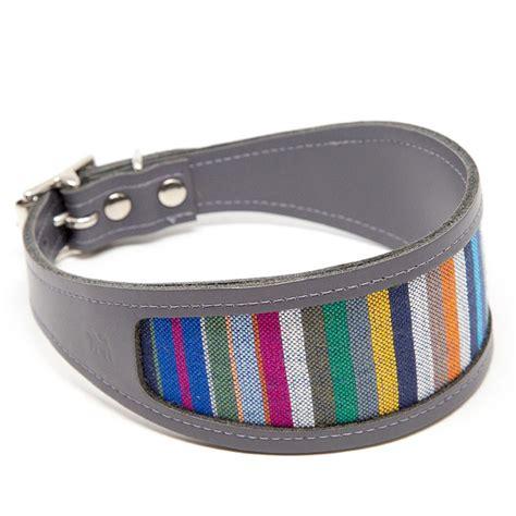 Greyhound Collars Handmade - italian greyhound collar striped these luxury italian