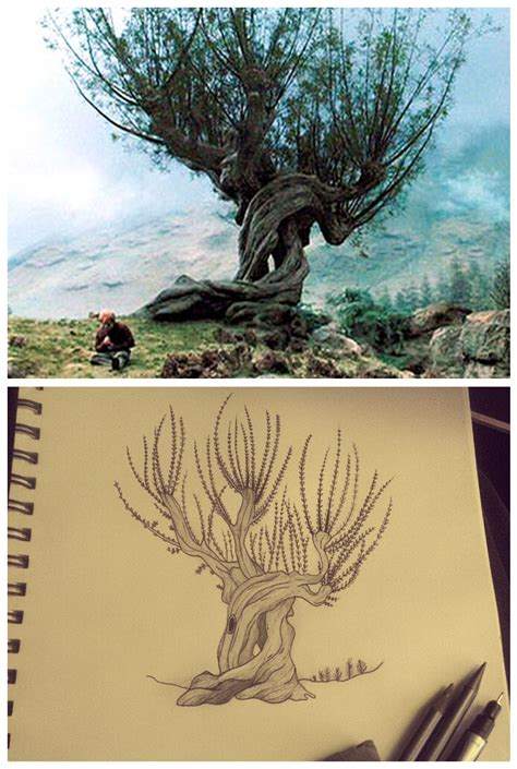 whomping willow tattoo whomping willow design by landersalisa on deviantart