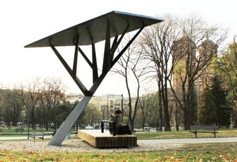solar power tree serbian park becomes greener with solar powered mobile